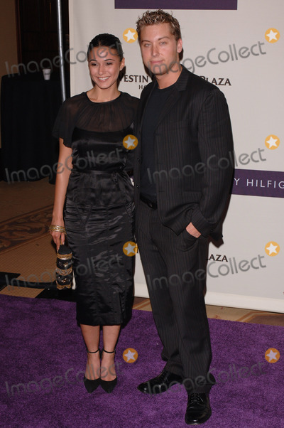 "Emmanuelle Chriqui, Lance Bass, NSYNC, *NSYNC Photo - NSync star LANCE BASS & girlfriend actress EMMANUELLE CHRIQUI at the 12th Annual Race to Erase MS Gala themed ""Rock & Royalty to Erase MS"" at the Century Plaza Hotel.