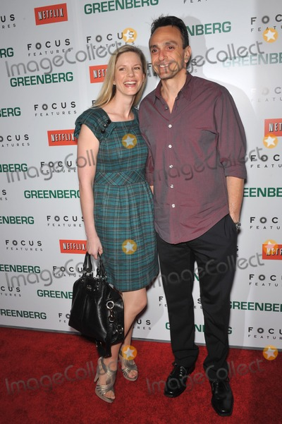 "Hank Azaria Photo - Hank Azaria & Katie Wright at the Los Angeles premiere of ""Greenberg"" at the Arclight Theatre, Hollywood.