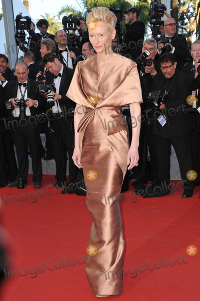 "Tilda Swinton Photo - Tilda Swinton at the premiere of her movie ""Moonrise Kingdom"" - the gala opening movie at the 65th Festival de Cannes.