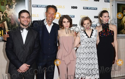 Allison Williams, Lena Dunham, Richard E Grant, Richard E. Grant, Zosia Mamet, Evan Jonigkeit Photo - Evan Jonigkeit, Zosia Mamet, Lena Dunham, Allison Williams, Richard E. Grant arriving for the Girls - UK premiere of the third series held at the Cineworld Haymarket - Arrivals, London. 15/01/2014 Picture by: Henry Harris / Featureflash