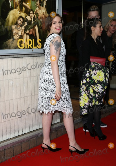 Lena Dunham Photo - Lena Dunham arriving for the Girls - UK premiere of the third series held at the Cineworld Haymarket - Arrivals, London. 15/01/2014 Picture by: Henry Harris / Featureflash