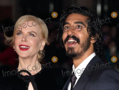 Dev Patel, Nicole Kidman Photo - London, UK. Dev Patel and Nicole Kidman at BFI London Film Festival American Express Gala - Lion - at the Odeon Leicester Square. London on October 12th 2016Ref: LMK73-61121-131016Keith Mayhew/Landmark MediaWWW.LMKMEDIA.COM