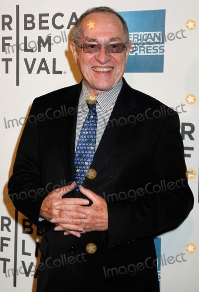 "Photo - Alan Dershowitz Arrives For the Tribeca Film Festival Premiere of ""Knife Fight"" at Bmcc Tribeca Pac in New York on April 25, 2012. Photo by Sharon Neetles/Globe Photos, Inc."