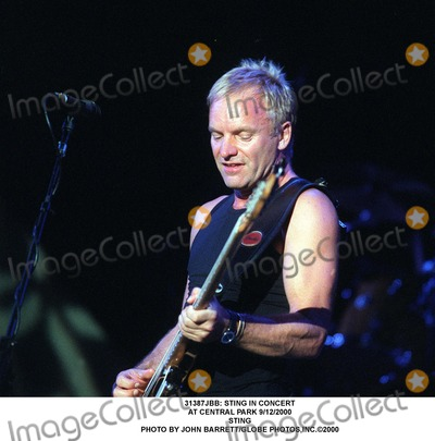 Sting Photo - : Sting in Concert at Central Park 9/12/2000 Sting Photo by John Barrett/Globe Photos,inc.