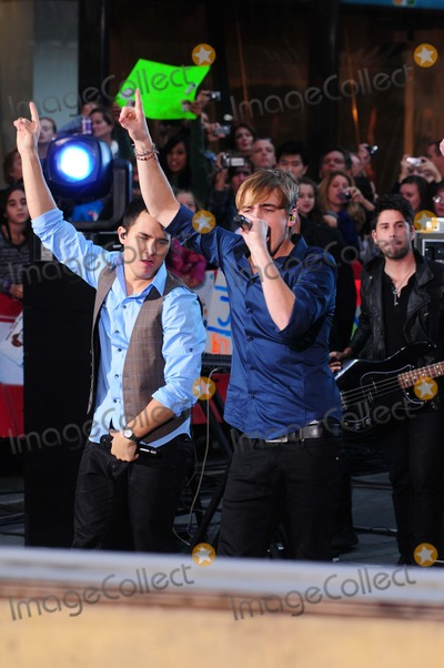 "Big Time, Big Time Rush, Rush Photo - Big Time Rush Performing on Nbc's ""Today"" Show Toyota Concert Series at Rockefeller Plaza in New York City on 10-11-2010. Photo by Ken Babolcsay - Ipol-Globe Photos, Inc.2010."