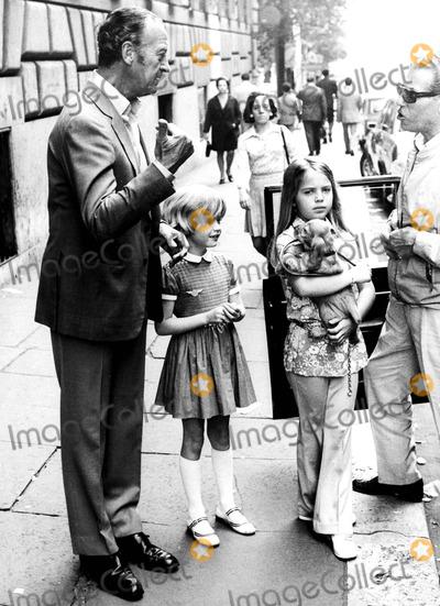 David Niven Photo - David Niven Sr  with Daughters Christina and Fiona    David Niven Kristina Niven