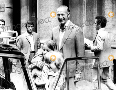 David Niven Photo - David Niven Sr  with Daughters Christina and Fiona    David Niven Kristina Niven