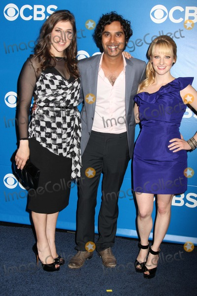 Kunal Nayyar, Mayim Bialik, Melissa Rauch Photo - Cbs Prime Time Upfront 2012-2013 Lincoln Center, NYC May 16, 2012 Photos by Sonia Moskowitz, Globe Photos Inc 2012 Mayim Bialik, Kunal Nayyar, Melissa Rauch