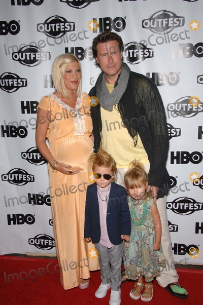 Tori Spelling, Dean McDermott Photo - Tori Spelling, Liam McDermott, Stella McDermott and Dean McDermott during the premiere of Tori Spelling's short film Hoarders: Untold sTori, held during Outfest, at the John Anson Ford Amphitheatre, on July 16, 2011, in Los Angeles.