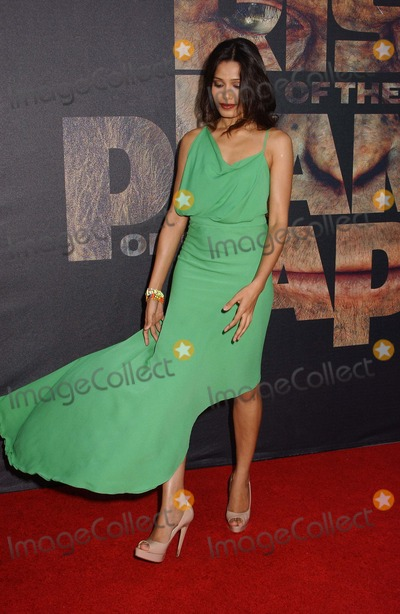 "Freida Pinto Photo - Freida Pinto attends the Premiere of ""Rise of the Planet of the Apes"" at the Chinese Theater in Hollywood,ca on July 28,2011. Photo by Phil Roach-ipol-Globe Photos"