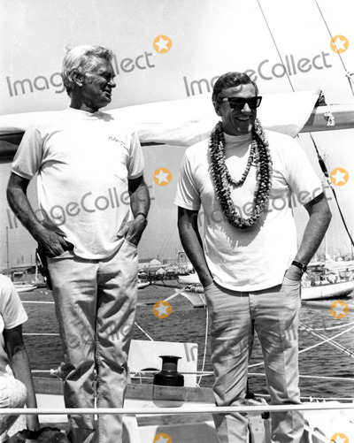 "Buddy Ebsen, James Arness Photo - Buddy Ebsen and James Arness Aboard ""Poleynesian Concept"" (Ebsens Yacht) Trans-pacific Yacht Race 07/04/68 Photo by Phil Roach/Globe Photos, Inc. 1968 Buddyebsenretro"