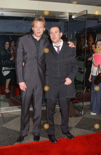 Paul Bettany, Paul Mcguigan Photo - the Reckoning Premiere at the Paris Theatre, New York City 03/03/2004 Photo: Ken Babolcsay/ Ipol/ Globe Photos Inc. 2004 Paul Bettany and Paul Mcguigan