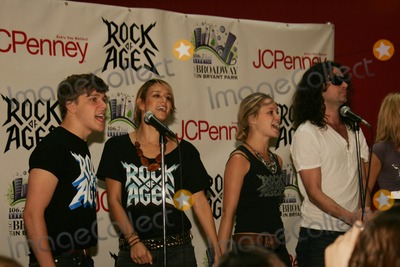 "Constantine Maroulis, JC Penney Photo - CONSTANTINE MAROULIS & CAST OF ""ROCK OF AGES"" perform at JC PENNEY in Manhattan Mall to launch the 2010 'Broadway in Bryant Park concert series NYC 06-25-2010 Photos by Rick Mackler Rangefinder-Globe Photos Inc.2010