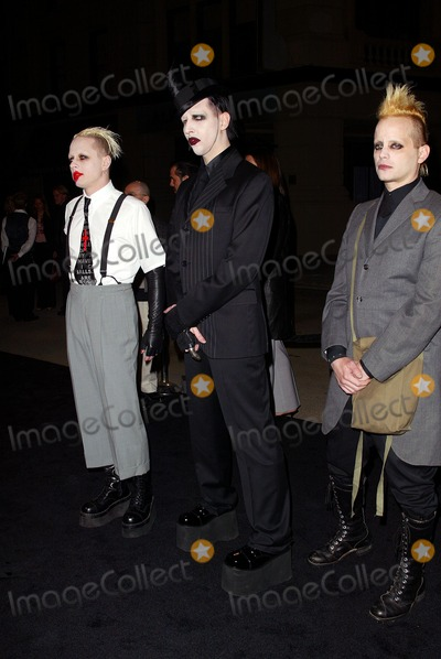 Marilyn Manson, Jason Bentley, Paul Oakenfold, The Matrix Photo - . Enter the Matrix - Final Flight of the Osiris- Preview. on the Warner Brothers Studio Lot. in Burbank, CA. 2/4/2003 . Photo by Fitzroy Barrett / Globe Photos Inc. 2003 Marilyn Manson with Jason Bentley and Paul Oakenfold