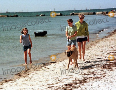 Kennedy, Rory Kennedy Photo - Rory Kennedy with Neices (michael's Daughters) (Left) Rory Gifford Kennedy (Center) Kyle Francis Kennedy (Right) Rory Kennedy Walking on the Beach with Their Dogs in Hyannisport, Mass. (Saturday, May 23, 1998) Photo:laura Cavanaugh/Globe Photos Inc