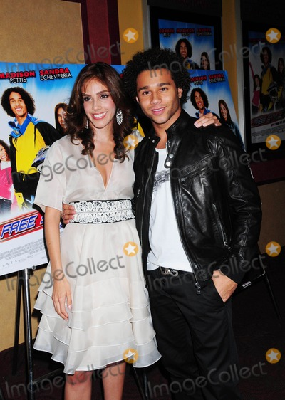 "Bill Dear, Mackenzie Aladjem, Sandra Echeverria, Corbin Bleu Photo - ""Free Style"" New York Premiere at Chelsea Clearview Cinema 9 in New York City 09-24-2009 Photo by Ken Babolcsay-ipol-Globe Photos, Inc. Sandra Echeverria and Corbin Bleu"