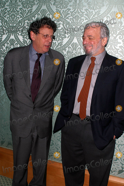 Eos, Philip Glass, RITZ CARLTON Photo - 8th Annaul Benefit Gala of Eos Orchestra at the Ritz Carlton , Battery Park , New York City 04/07/2003 Photo: John Barrett/ Globe Photos Inc. 2003 Philip Glass and Stephen Sondhelm