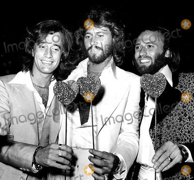 Bee Gees, Maurice Gibb, Pepper, The Bee GEES, The Bees Photo - The Bee Gees Robin, Barry and Maurice Gibb at the Sgt. Pepper Premiere Party 1978 N. Cutler/Globe Photos, Inc. Mauricegibbretro
