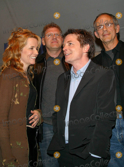 Michael J Fox, Michael J. Fox, Christopher Lloyd, Lea Thompson, Robert Zemeckis Photo - Back to the Future Trilogy Dvd Launch Party Courthouse Square, Universal City, CA 12/16/02 Photo by Milan Ryba/Globe Photo Inc. 2002 Lea Thompson, Michael J. Fox, Robert Zemeckis and Christopher Lloyd