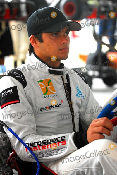 Train Photo - -27-2009 Florianopolis, Brazil - Go-kart International Challenge Championships (Known As Desafio Das Estrelas) - Press Conference and Training Session. in Picture: Nelson Piquet Jr. Photo by Cityfiles-Globe Photos, Inc. 2009