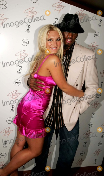 "Brooke Hogan, Dennis Rodman Photo - Party to Celebrate the Release of Brooke's Cd ""Undiscovered"" 10th Avenue 10-24-2006 Photos by Rick Mackler Rangefinder-Globe Photos Inc.2006 Brooke Hogan with Dennis Rodman"