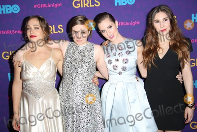 "Allison Williams, Lena Dunham, Zosia Mamet, Jemima Kirke Photo - The New York Premiere of the Third Season of ""Girls"" Presented by Hbo Jazz at Lincoln Center, the Time Warner Center, NYC January 6, 2014 Photos by Sonia Moskowitz, Globe Photos Inc 2014 Jemima Kirke, Lena Dunham, Allison Williams, Zosia Mamet"