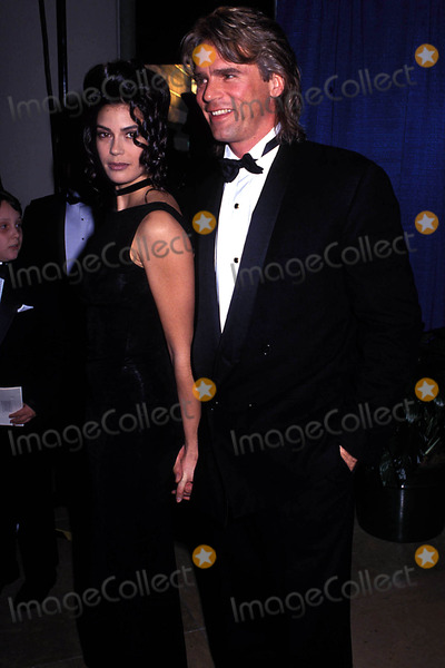 Teri Hatcher, Richard Dean Anderson, Richard Dean Photo - Golden Globes Photo: Michelson-Globe Photos Inc. 1993 Teri Hatcher and Richard Dean Anderson