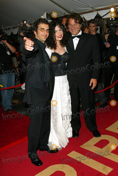 Atom Egoyan, Robert Lantos Photo - Ararat Gala Premiere Opening Night of the 2002 Toronto Film Festival at Roy Thomson Hall Toronto, Canada Director Atom Egoyan and Wife Arsinee Khanjian and Producer Robert Lantos Photo by Fitzroy Barrett / Globe Photos, Inc 9-5-2002 K26026fb (D)