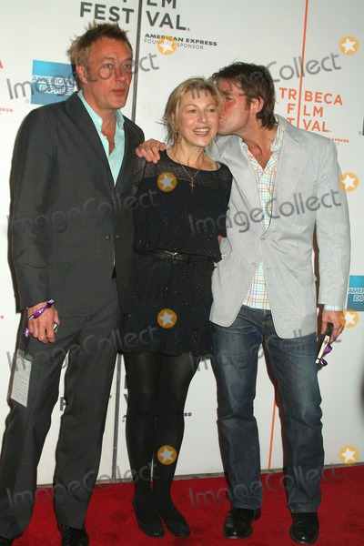 "Hunter Hill, Perry Moore, Tatum O'Neal, Tatum O�Neal Photo - "" Lake City "" Premiere at the 7th Annual of Tribeca Film Festival. New York City 04-25-2008 Photo by Mitchell Levy-Globe Photos, Inc. Tatum O'neal with Perry Moore and Hunter Hill"