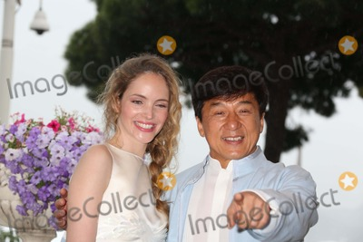"Jackie Chan, Laura Weissbecker Photo - Director Jackie Chan and Actress Laura Weissbecker Pose to Promote the Film ""Chinese Zodiac"" During the 65th Cannes Film Festival at Hotel Carlton in Cannes, France, on 18 May 2012. Photo: Alec Michael Photo by Alec Michael-Globe Photos, Inc."