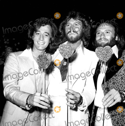 "Bee Gees, Maurice Gibb, Pepper, The Bee GEES, The Bees Photo - Robin, Barry and Maurice Gibb of the Bee Gees at the ""Sgt. Pepper's Lonely Heart's Club"" Premiere and Party 1978 #2953 Nate Cutler/Globe Photos, Inc."