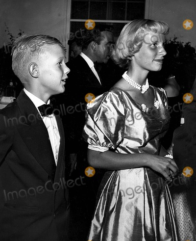 Joan Crawford Photo - Joan Crawford's Son and Daughter Chris and Christina 1952 Photo by Globe Photos, Inc.