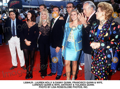 Anthony Quinn, Danny Quinn, Francisco Quinn, Lauren Holly, Hollies Photo - Lauren Holly & Danny Quinn, Francisco Quinn & Wife, Lorenzo Quinn & Wife, Anthony & Yolanda Quinn. Photo by Lisa Rose/Globe Photos, Inc.