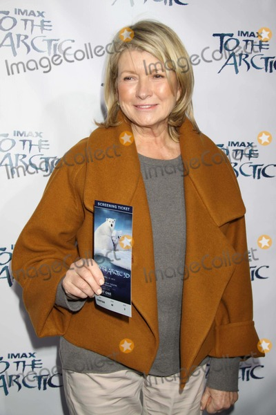 Martha Stewart Photo - Martha Stewart at Screening Of''to the Arctic'' at Amc Lincoln Square Theatre 4-10-2012 Photo by John Barrett/Globe Photos
