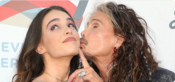 Steven Tyler and daughter Chelsea Photo