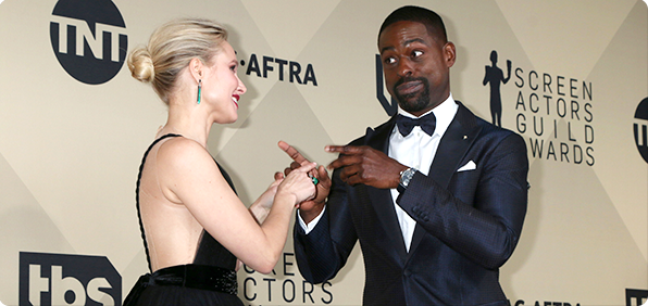 Kristen Bell & Sterling K. Brown Photo