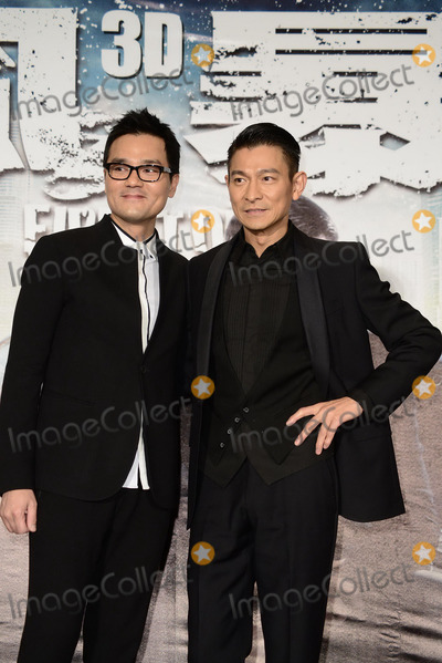 Andy Lau, CAST MEMBER, CAST MEMBERS Photo - Cast members Andy Lau and Ka Tung Lam promote film Firestorm in Taipei,China on Monday December 16,2013.