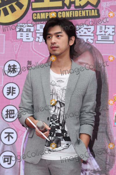 Photo - Actor Chen Bolin attends launch press conference of book Campus Confidential in Taipei,China on Sunday December 15,2013.  Credit: Topphoto/face to face - No rights for China and Taiwan -