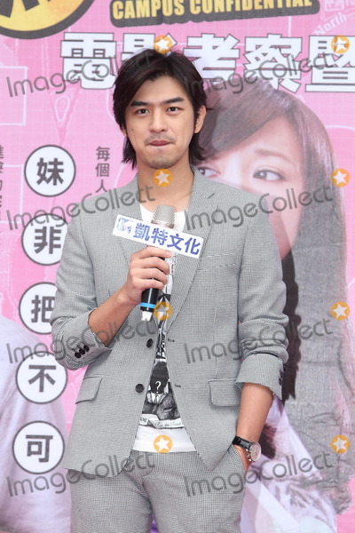 Photo - Actor Chen Bolin attends launch press conference of book Campus Confidential in Taipei,China on Sunday December 15,2013.
