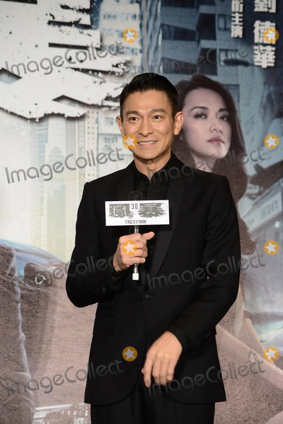 Andy Lau, CAST MEMBER, CAST MEMBERS Photo - Cast member Andy Lau promotes film Firestorm in Taipei,China on Monday December 16,2013.