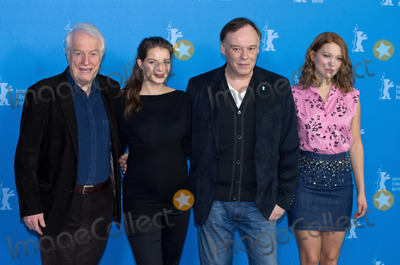 Andre Dussollier, Christophe Gans, Lea Seydoux, Yvonne Catterfeld, André Dussollier Photo - Andre Dussollier, Yvonne Catterfeld, director Christophe Gans, Lea Seydoux attends Photocall and Press Conference BEAUTY AND THE BEAST, Berlinale, 14.02.2014. Credit: Ralle/face to face