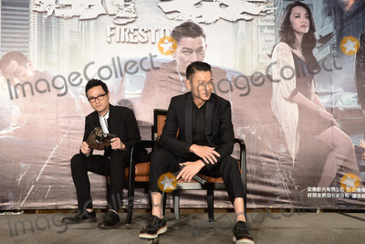 Andy Lau, CAST MEMBER, CAST MEMBERS Photo - Cast members Andy Lau and Ka Tung Lam promote film Firestorm in Taipei,China on Monday December 16,2013. Credit: Topphoto/face to face - No rights for China and Taiwan -