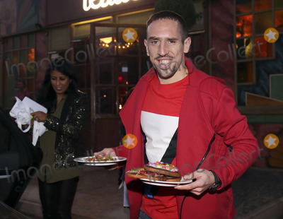 Alfons Schuhbeck, Bayern Munich, Franck Ribery Photo - Franck Ribery mit Frau attending the FC Bayern Munich Weihnachtsfeier/Christmas Party at the Theatro of Alfons_Schuhbeck in Munich, 08.12.2013.