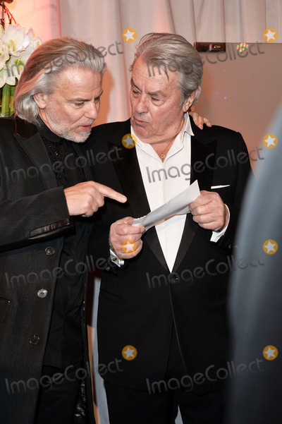 """Alain Delon Photo - Hermann Buehlbecker and Alain Delon arriving for the """"326 Years Lambertz Monday Night 2014"""" Event in the Alter Wartesaal Cologne. Cologne 27.01.2014. Credit Timm/face to face"""