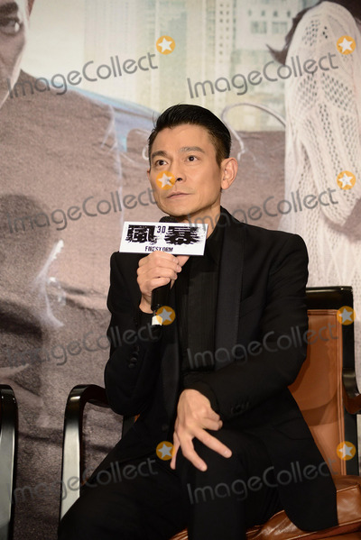 Andy Lau, CAST MEMBER, CAST MEMBERS Photo - Cast member Andy Lau promotes film Firestorm in Taipei,China on Monday December 16,2013. Credit: Topphoto/face to face - No rights for China and Taiwan -