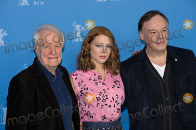 Andre Dussollier, Christophe Gans, Lea Seydoux, André Dussollier Photo - Andre Dussollier, Lea Seydoux, director Christophe Gans attends Photocall and Press Conference BEAUTY AND THE BEAST, Berlinale, 14.02.2014. Credit: Ralle/face to face