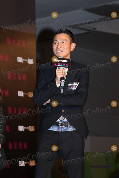 Andy Lau, CAST MEMBER, CAST MEMBERS Photo - Cast member Andy Lau promotes film Firestorm in Hong Kong,China on Sunday December 15,2013. Credit: Topphoto/face to face - No rights for China and Taiwan -