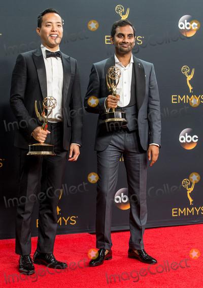 Aziz Ansari, Alan Yang Photo - 18 September 2016 - Los Angeles, California - Alan Yang, Aziz Ansari. 68th Annual Primetime Emmy Awards held at Microsoft Theater. Photo Credit: AdMedia