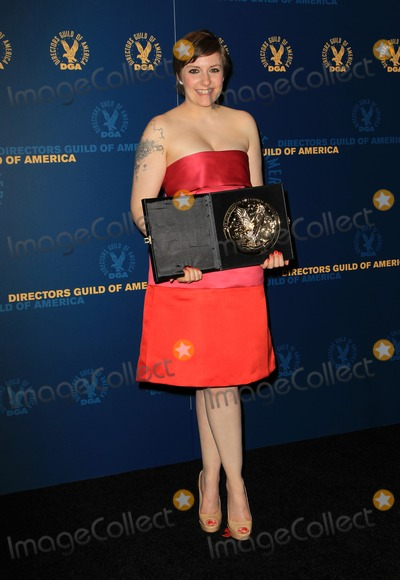 Lena Dunham, Ray Dolby Photo - 2 February 2013 - Hollywood, California - Lena Dunham. 65th Annual Directors Guild Of America Awards - Press Room Held At The Ray Dolby Ballroom at Hollywood & Highland Center. Photo Credit: Kevan Brooks/AdMedia