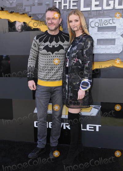Batman, Chris Hardwick, Lydia Hearst Photo - 04 February 2017 - Westwood, California - Chris Hardwick, Lydia Hearst. Premiere of Warner Bros. Pictures' 'The LEGO Batman Movie'  held at the Regency Village Theater. Photo Credit: Birdie Thompson/AdMedia